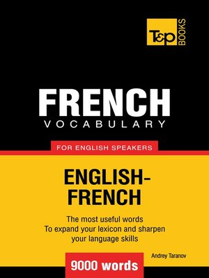 cover image of French Vocabulary for English Speakers